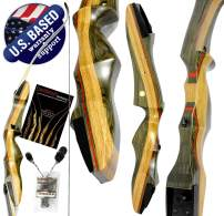 """Southwest Archery Spyder Takedown Recurve Bow – Compact Fast Accurate 62"""" Hunting & Target Bow – Right & Left Hand – Draw Weights in 20-60 lb – Beginner to Intermediate - USA Company"""