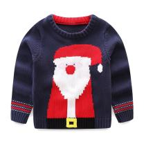 LittleSpring Kids Christmas Knit Pullover Sweater