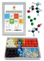 Molecular Model Kit with Molecule Modeling Software and User Guide - Organic, Inorganic Chemistry Set for Building Molecules - Dalton Labs 200 Pcs Advanced Chem Biochemistry Student Edition