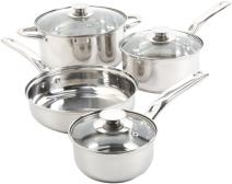 Sunbeam Anston Cookware Sets, 7-Piece, Silver