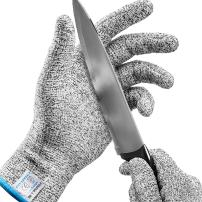 Stark Safe Cut Resistant Gloves (1 Pair) Level 5 Cut Gloves, Cutting Gloves for Kitchen, Mandolin Slicing, Grating, Fish Fillet, Oyster Shucking, Meat Cutting and Wood Carving (Small)