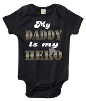 Rapunzie Baby Bodysuit - My Daddy is My Hero Cute Baby Clothes for Infant Boys and Girls
