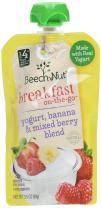 Beech-Nut Breakfast On-the-Go, Baby Food, Stage 4, Yogurt, Banana & Mixed Berry, 3.5 Ounce Pouch (Pack of 12)