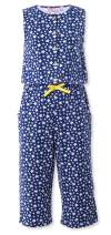A for Awesome Girls Wide Leg Printed Cotton Jersey Jumpsuit with Sleeveless