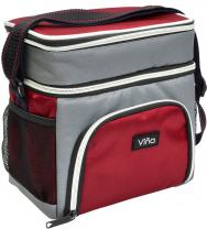 Insulated Lunch Cooler Bag, Vina Small Adult Dual Compartment Reusable Bento Lunch Tote with Shoulder Strap for Men and Women, Red
