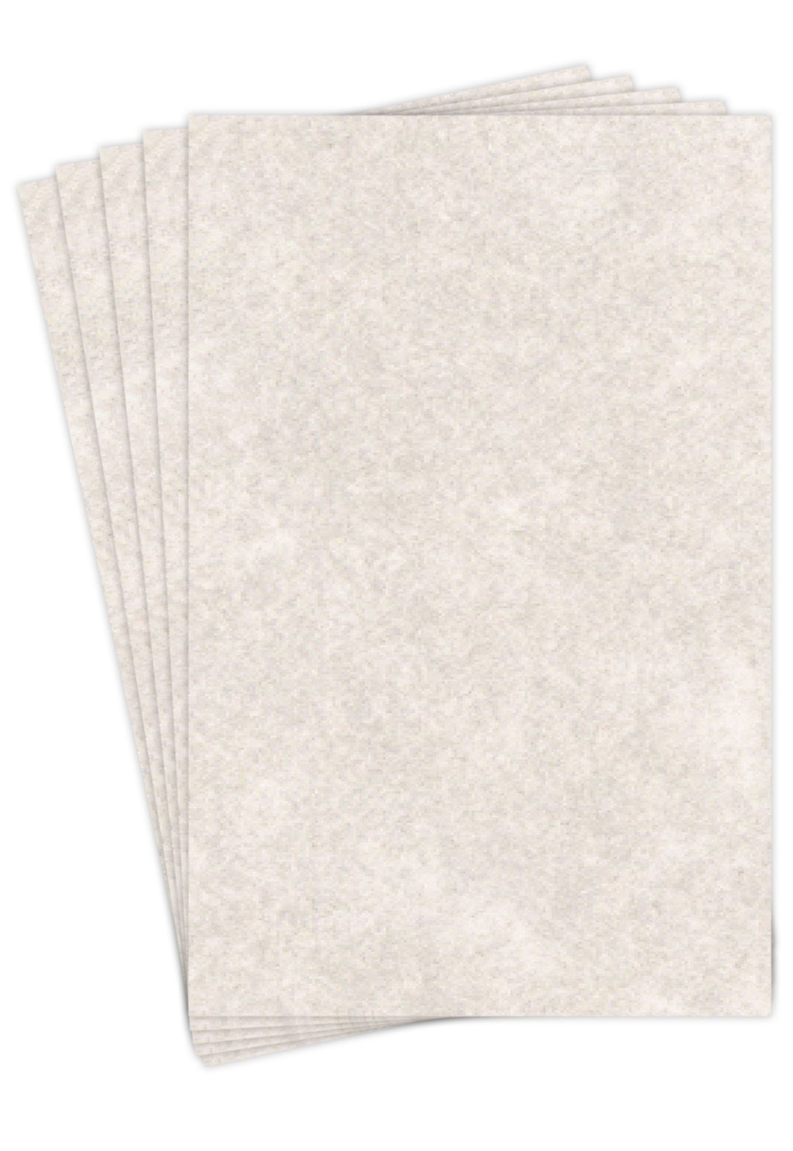 """Pewter Stationery Parchment Recycled Paper   65Lb Cover Cardstock   11"""" x 17"""" Inches   50 Sheets Per Pack"""
