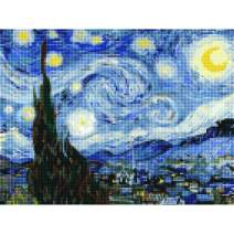 "5D Diamond Painting Kits for Adults by BANLANA, DIY Cross Stitch Crystal Rhinestone Embroidery Pictures Art Kit with Premium Tools, 12"" by 16"" Arts Craft for Home Wall Decor (Starry Night)"