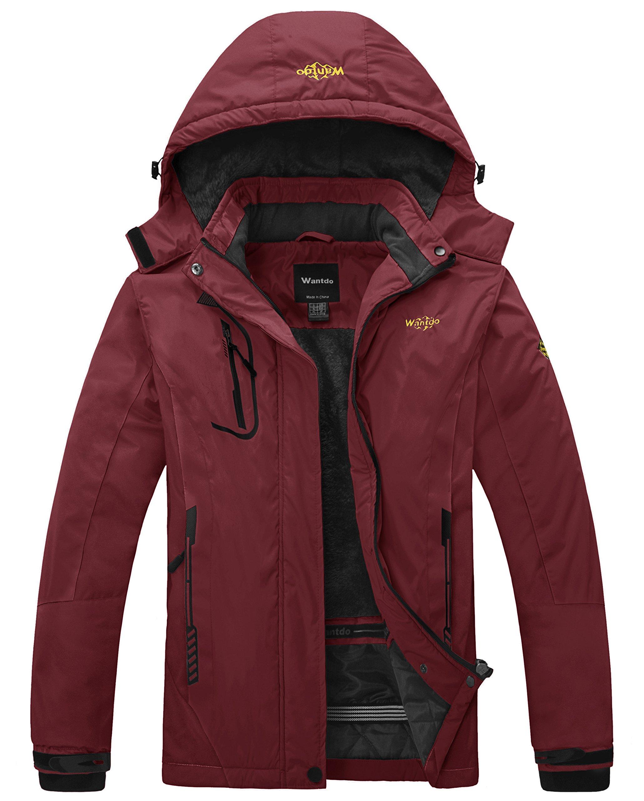 Wantdo Girls Warm Snowboarding Jackets Waterproof Ski Jacket Fleece Winter Snow Coat Windproof Raincoats