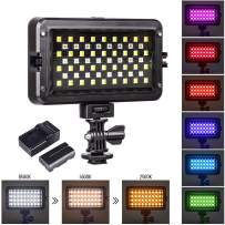 VILTROX RGB Led Video Light Kit CRI95+ Full Color Output Dimmable 3300K-5600K Bi-Color Video continous Photography Lighting Kit for Studio YouTube Portrait, with Rechargeable Battery & Charger
