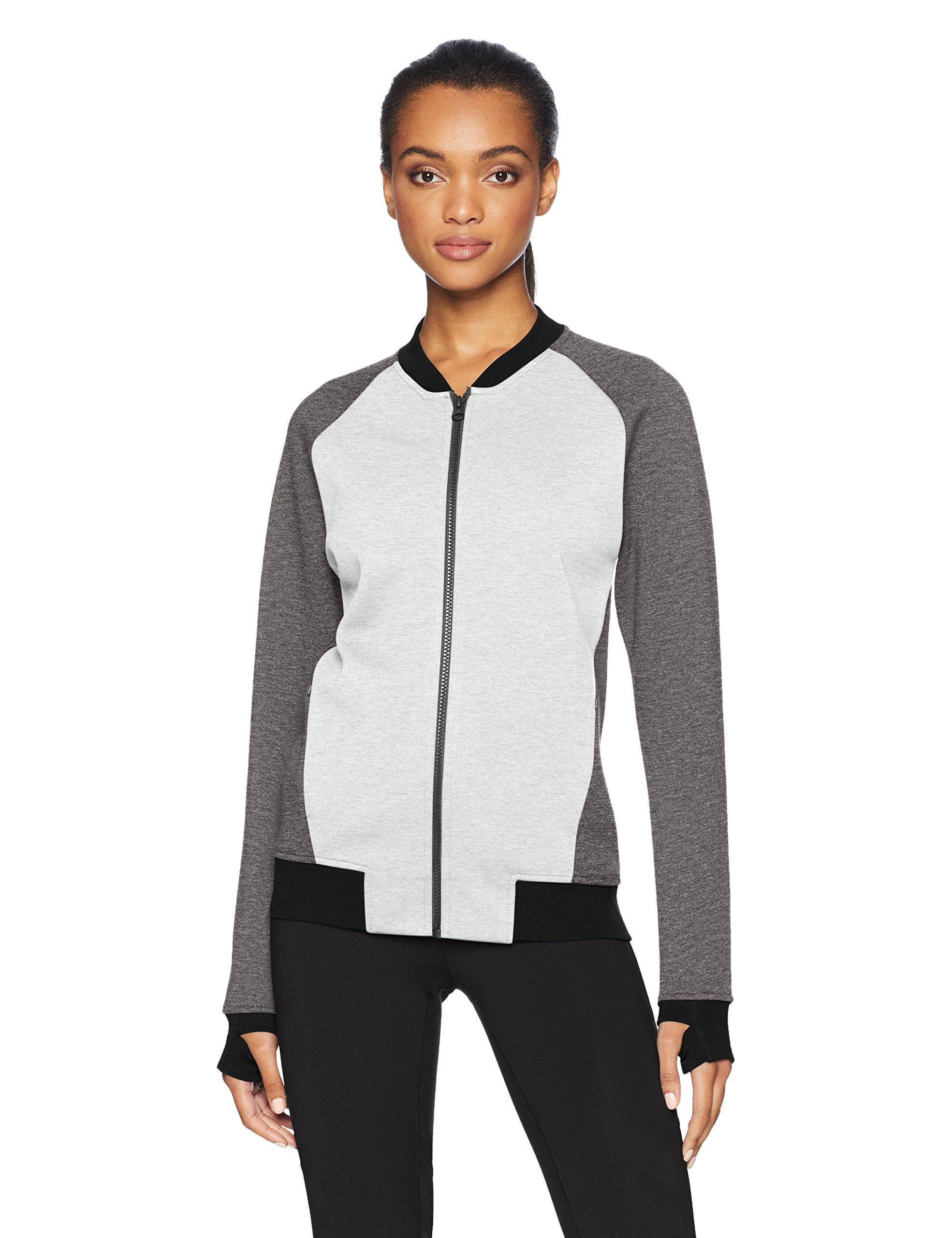 Amazon Brand - Core 10 Women's (XS-3X) Motion Tech Fleece Fitted Bomber Full-Zip Jacket