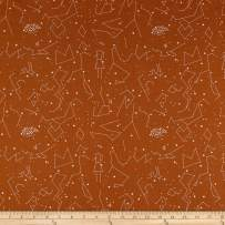 Andover Constellations , Butterscotch Fabric by the Yard