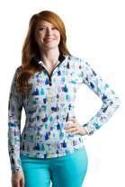 SanSoleil Women's SolTek Ice UV 50 Long Sleeve Mock Neck Shirt