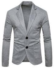 WHATLEES Mens Casual Slim Button Down Cardigan
