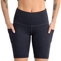 Uhnice Workout Yoga Shorts with Out Pockets Tummy Control Athletic Sports Pants