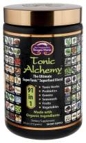 Dragon Herbs - Tonic Alchemy - Superfood Green Powder Blend - 9.5 oz - Made with Organic ingredients - 100% Vegan - Herbs, Probiotics, Vegetables, Fruits, Sprouts, Whole Grasses, Seaweed, Antioxidants …