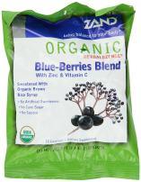 ZAND Herbalozenge Organic Lozenges, with Zinc and Vitamin C, Blue-Berries Blend, 12 - 18 lozenge bags (216 Lozenges)