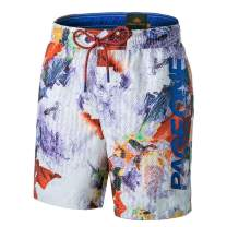 PAGE ONE Mens Swim Trunks Quick Dry Surfing Beach Shorts with Full Mesh Lining with Pockets