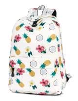 H HIKKER-LINK Pineapple Pattern Laptop Backpack Travel Rucksack College Bookbag Medium Beige