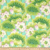 FreeSpirit Fabrics 0365128 Kaffe Fassett Collective Lake Blooms Green Fabric by the Yard