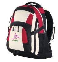 all about me company Personalized Dance Urban Backpack (Red/Black/Stone)