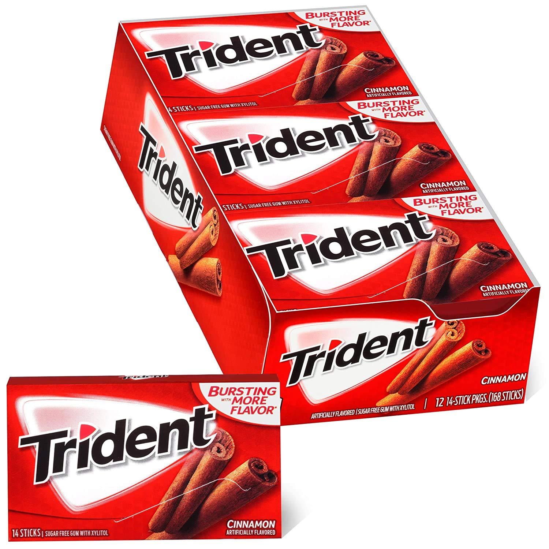 Trident Cinnamon Sugar Free Gum, Pack of 75 (Pack of 75)