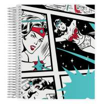 "Wonder Woman x Erin Condren Coiled Sketchbook (Blank Page Layout) 7x9 - Classic Comic Designer Interchangeable Cover, Measures 7""x 9"", Boost Creativity, Durable, Pretty, Cute, Blank Pages"
