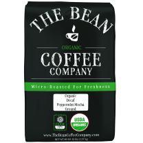 The Bean Coffee Company Organic Decaf Peppermint Mocha, Medium Roast, Ground, 80 Ounce Bag