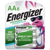 Energizer NH15BP-8 Rechargeable AA Batteries, 2300 mAh, Pre-Charged, 8 count (Recharge Power Plus)
