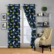 Mk 2 Panel Curtain with Grommet New (Blue Dinosaur)