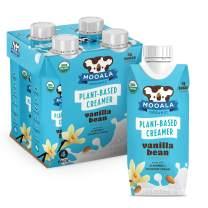 Mooala – Organic Vanilla Bean Plant-Based Creamer, Unsweetened 11 oz. (Pack of 4) – Shelf-Stable, Gluten-Free, Vegan & Non-Dairy Creamer with No Added Sugar