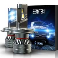 BEAMTECH H4 LED Bulb, 9003 G-XP Chips 6500K 360 Degree Beam 90W Xenon WhiteConversion Kits With Fan High Brightness Halogen Replacement