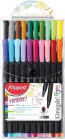 Maped Graph'Peps Classic 0.4mm Fine Felt Tipped Pens, Pack of 20 (749151)