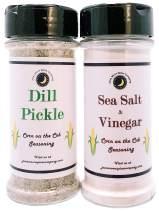 Premium | CORN on the COB Seasonings | Variety 2 Pack | Large Shakers | Sea Salt & Vinegar Corn on the Cob Seasoning | DIll Pickle Corn on the Cob Seasoning | Calorie Free