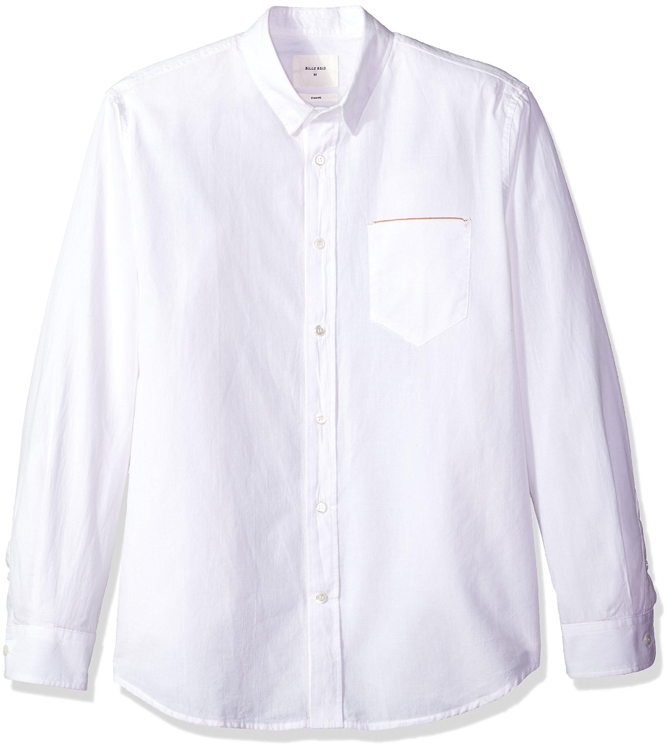 Billy Reid Men's Standard Fit Selvedge Pocket Button Down Shirt