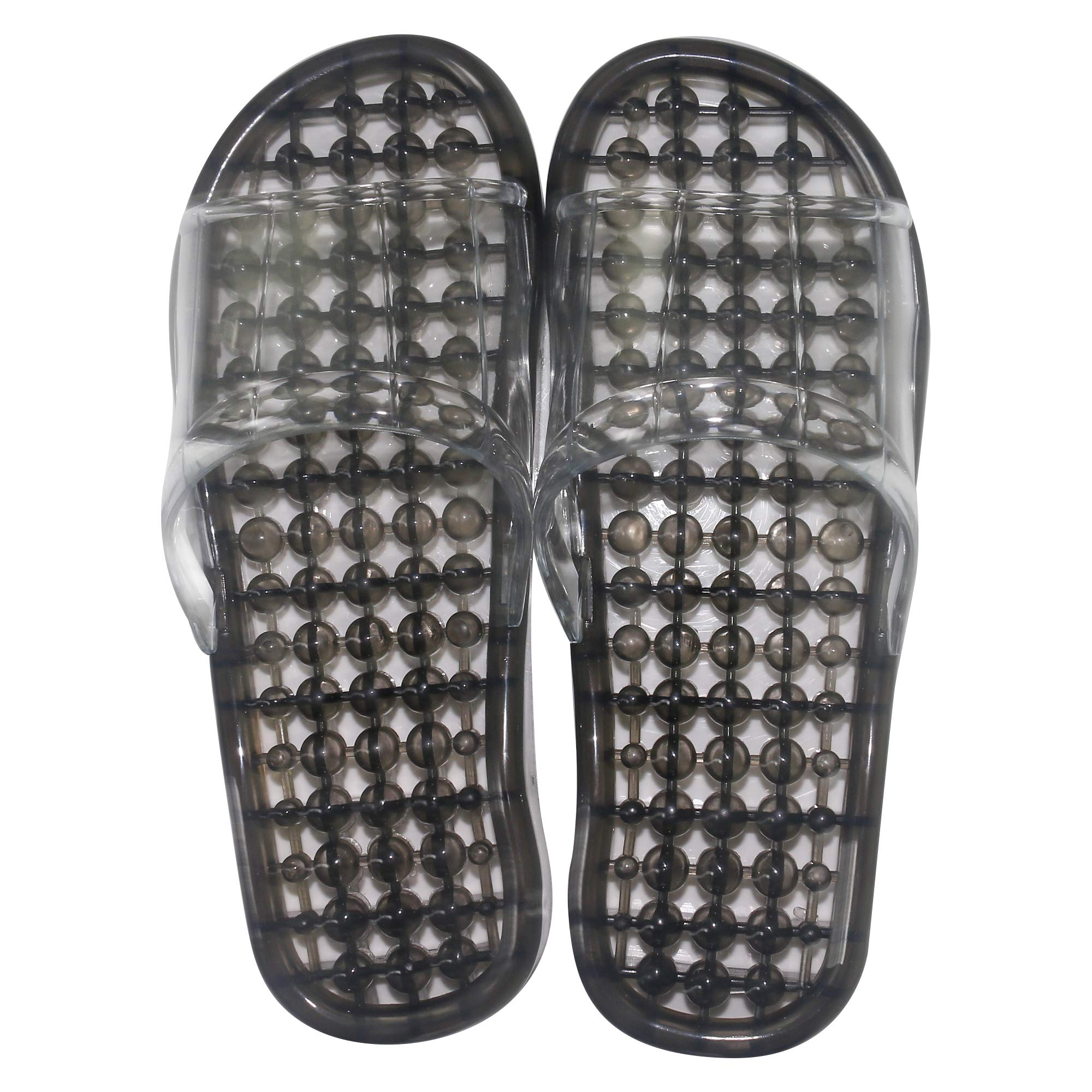 Massage Slippers,URBEST Feet Meridians Fashion Quick Drying Breathable Shower Slippers, Foot Massgaer Shoes, Spa Shoes (M, Black)