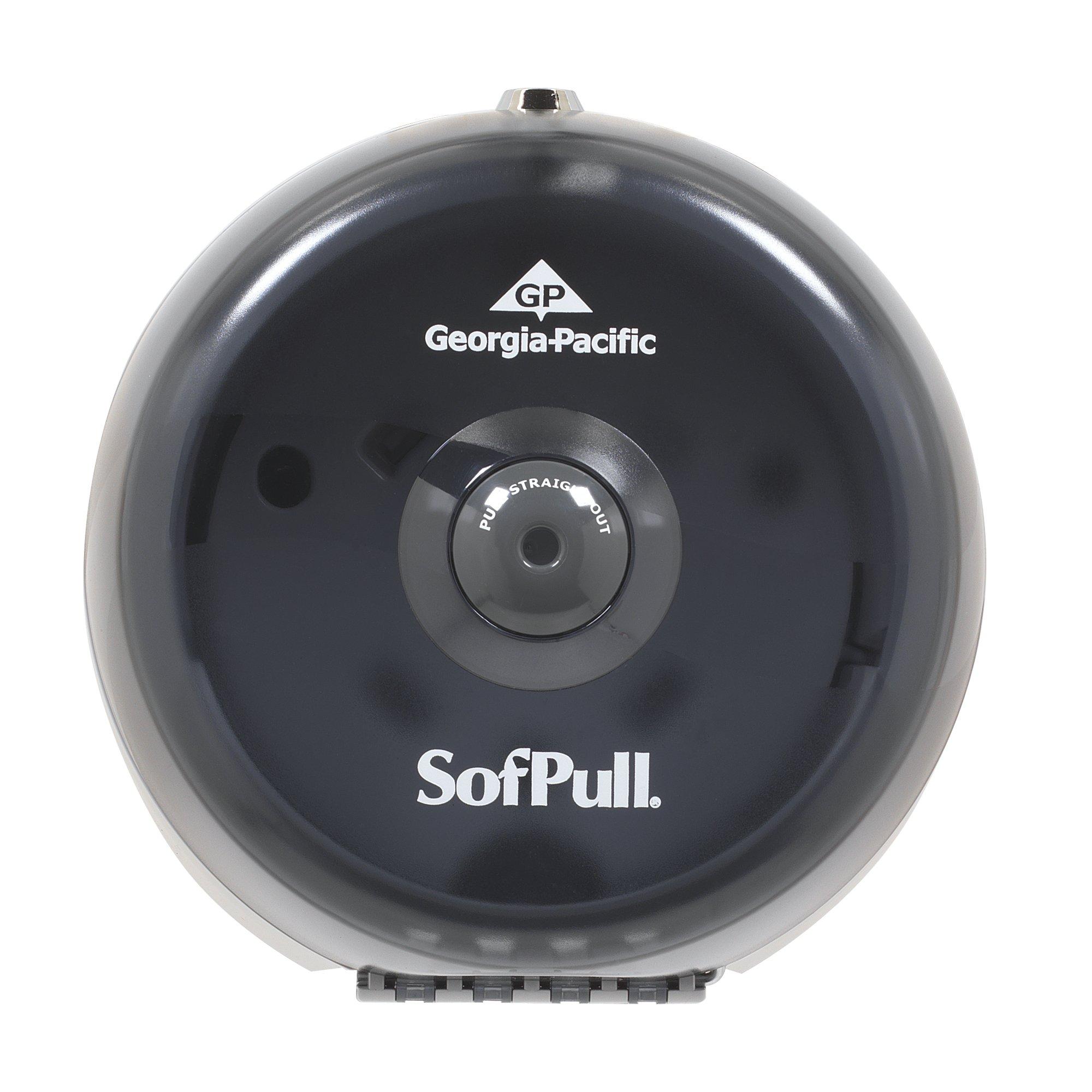 "Sofpull Centerpull Mini Toilet Paper Dispenser by GP PRO (Georgia-Pacific), Translucent Smoke, 56513,8.750"" W x 7.000"" D x 9.000"" H"