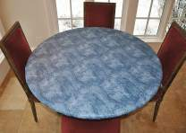 """LAMINET - Elite Elastic Edged Print Table Pad - Marble Blue - Small Round - Fits Tables up to 44"""" Diameter - The Ultimate Protection for Your Table!!!"""