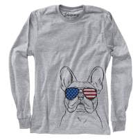 Patriotic Franco The French Bulldog Dog Triblend T-Shirt