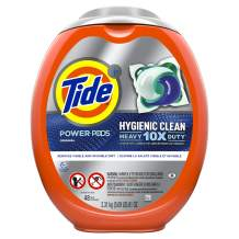 Tide Hygienic Clean Heavy 10x Duty Power PODS Laundry Detergent Pacs, Original, 48 count, For Visible and Invisible Dirt (Packaging May Vary)