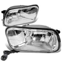 Replacement for Dodge Ram DS/DJ Pair of Bumper Driving Fog Lights + Switch (Clear Lens)