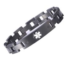 linnalove The Military Style Medical Bracelet Jewelry for Men and Women with Engraving Alert Identity Medical Conditions