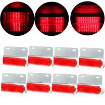 cciyu 8 Pack Red 12v-24v Pickup Truck Trailer 18-LED Side Marker Lights