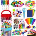 FunzBo Arts and Crafts Supplies for Kids - Craft Art Supply Kit for Toddlers Age 4 5 6 7 8 9 - All in One D.I.Y. Crafting Collage Arts Set for Kids