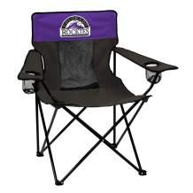 logobrands MLB Colorado Rockies Adult Elite Sporting Chair, Black/Purple