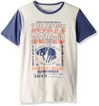 Lucky Brand Boys' Short Sleeve Solid Raglan Tee Shirt