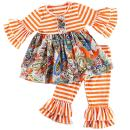 Cilucu Girls Clothes Toddler Outfits Kids Ruffle Pants Set Striped Shirts Fall Clothing