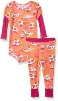 Munki Munki Baby Boys' Onesie Bodysuit and Pant Set