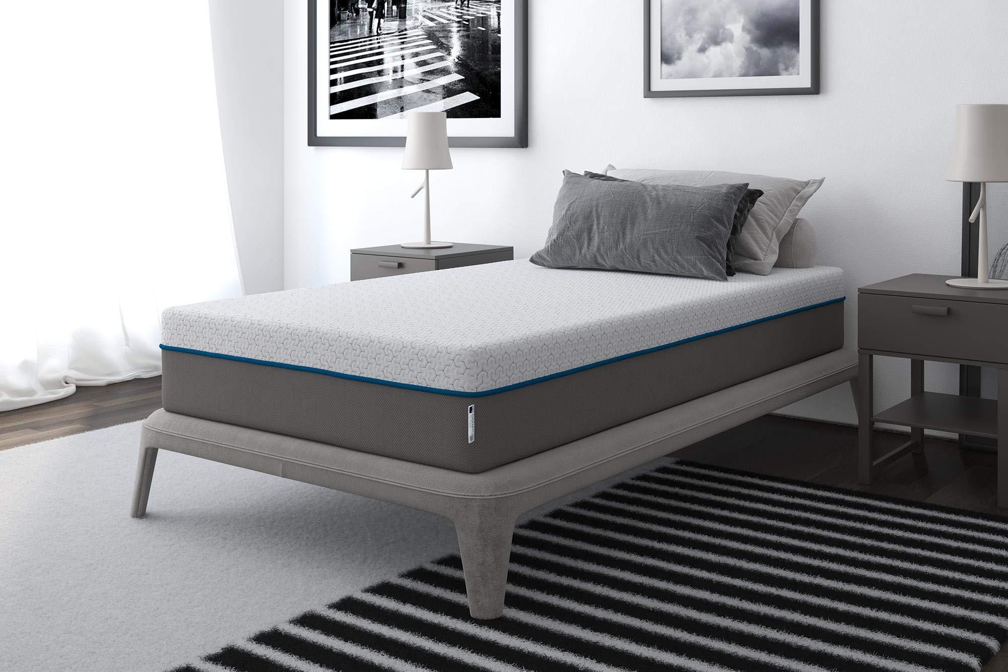 Signature Sleep Flex 10-Inch Charcoal Gel Memory Foam Mattress, Twin Size