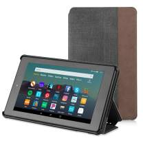 Apiker Case for Fire 7 Tablet (9th Generation, 2019 Release), Smart Shell Slim Folding Cover Case- Black