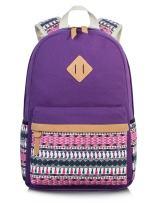 H HIKKER-LINK Cute Pattern Backpack Canvas School Laptop Book Bag Rucksack